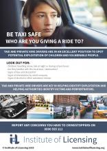 Taxi safety poster 2