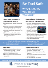 IoL Taxi/PH Safety Posters